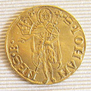 Gold coin of the Republic of Florence, struck from 1252 to 1533