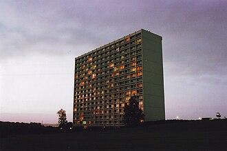 Viby J - The landmark high-rise of Grøfthøjhuset in Viby.