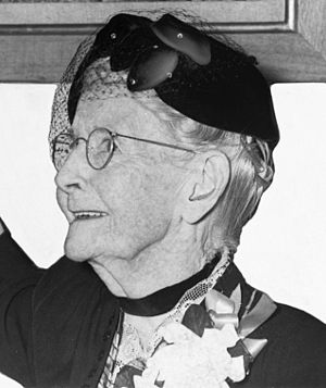 ", cropped from photo of ""Grandma Moses do..."