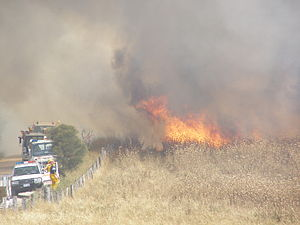 South Australian Country Fire Service - Grass fire at Willunga. January 2006