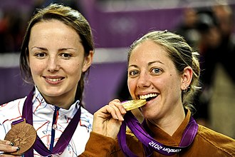 Jamie Lynn Corkish - Jamie Corkish (right) at 2012 Olympics
