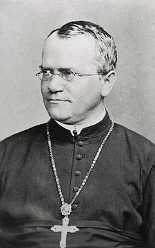 Gregor Mendel with cross.jpg