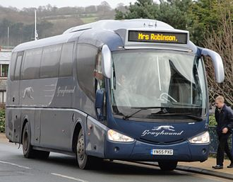 Coach transport in the United Kingdom - A Greyhound coach