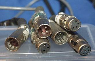 XLR connector - Variety of male and female XLR connectors with different numbers of pins