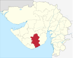 Amreli District location in Gujarat, India.