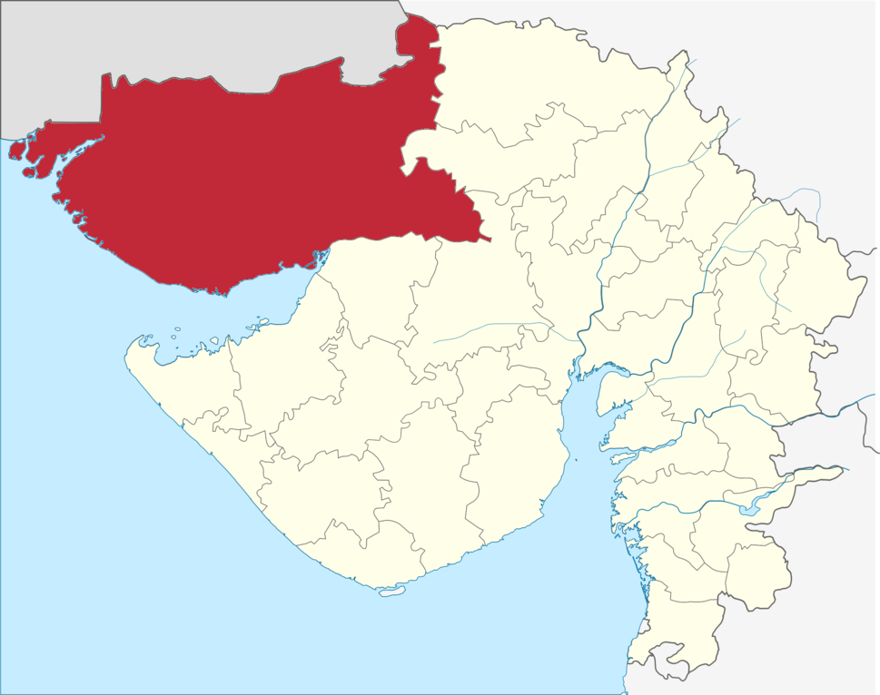 Location of Kutch district in Gujarat