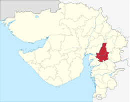 Gujarat Vadodara district.png