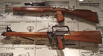 Gyrojet - The Gyrojet carbine, and the rifle at the National Firearms Museum