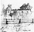 Hässelby slott, teckning av O.H. Wallgren, 1847.jpg