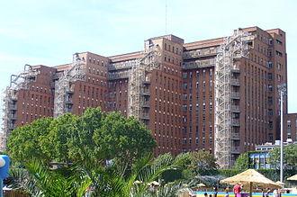 Beaujon Hospital - The rear façade of the hospital.
