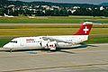 HB-IYW B.Ae 146-RJ100 Swiss Intl Al ZRH 19JUN03 (8535427313).jpg