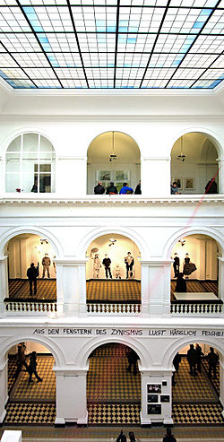 "Atrium of the ""Academy of Visual Arts""."