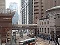 HK 中環 Central 德輔道 Des Voeux Road tram stop n 太子大廈 Prince's Building shop 愛馬仕 Hermes clothing sign footbridge HSBC SCBank HQ January 2020 SS2 01.jpg