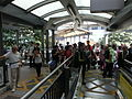 HK Central Escalators interior visitors n Security staff at 10am changing everyday Oct-013 (5).JPG