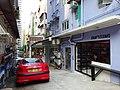 HK Sheung Wan Tai Ping Shan Street back lane Tai Ping House Pegueot red car parking Aug-2015 DSC.JPG