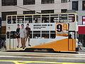 HK Wan Chai Johnston Road tram body ads Hong Kong Legislative Election 2012 Wu Fung Bowie figure.JPG