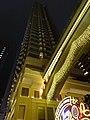 HK Wan Chai night Lee Tung Avenue facade n footbridge lighting Dec-2015 DSC.JPG