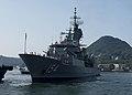 HMAS Parramatta arrives at Commander, Fleet Activities Sasebo 9 Oct 2017.jpg