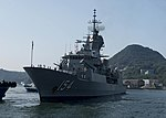 HMAS Parramatta arrives at Commander, Fleet Activities Sasebo 9 Oct 2017.jpg