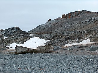 South Shetland Islands - Norwegian whaling boat, Half Moon Island