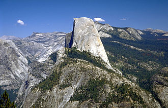 Half Dome - Profile of Half Dome seen from Washburn Point