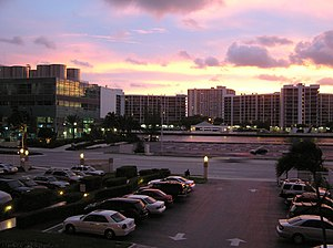 Hallandale Beach, Florida - Sunset at Hallandale Beach
