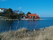 Ostrov Halsö v Göteborgském souostroví, severní Götaland.