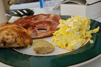 Ham and eggs - Image: Ham and scrambled eggs