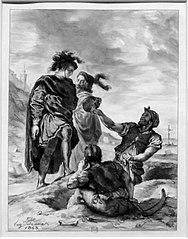 Hamlet et Horatio devant les fossoyeurs