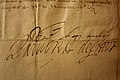 Handtekening Lamoraal van Egmont, brief aan de heer van Ohain 01.jpg