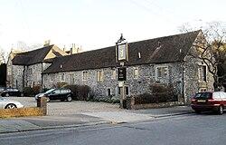 Hangleton Manor Inn kaj La Aĝa Grandbieno, Hangleton Manor Close, Hangleton (IoE Code 365538).jpg