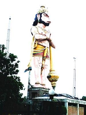 Sitamarhi - Hanuman statue at sitamarhi