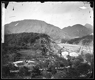 East Point, Hong Kong - View of Happy Valley from East Point c.1868. Photograph by John Thomson.