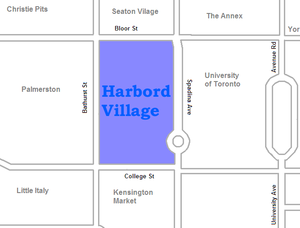 Harbord Village - Image: Harbord Village map