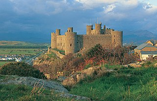 castle in Harlech, Gwynedd, Wales