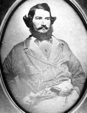 Hopkins, Minnesota - Harley H. Hopkins, namesake of Hopkins, in 1855, note the revolver.