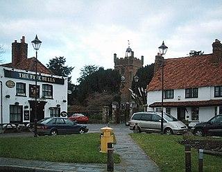 Harmondsworth village in west London