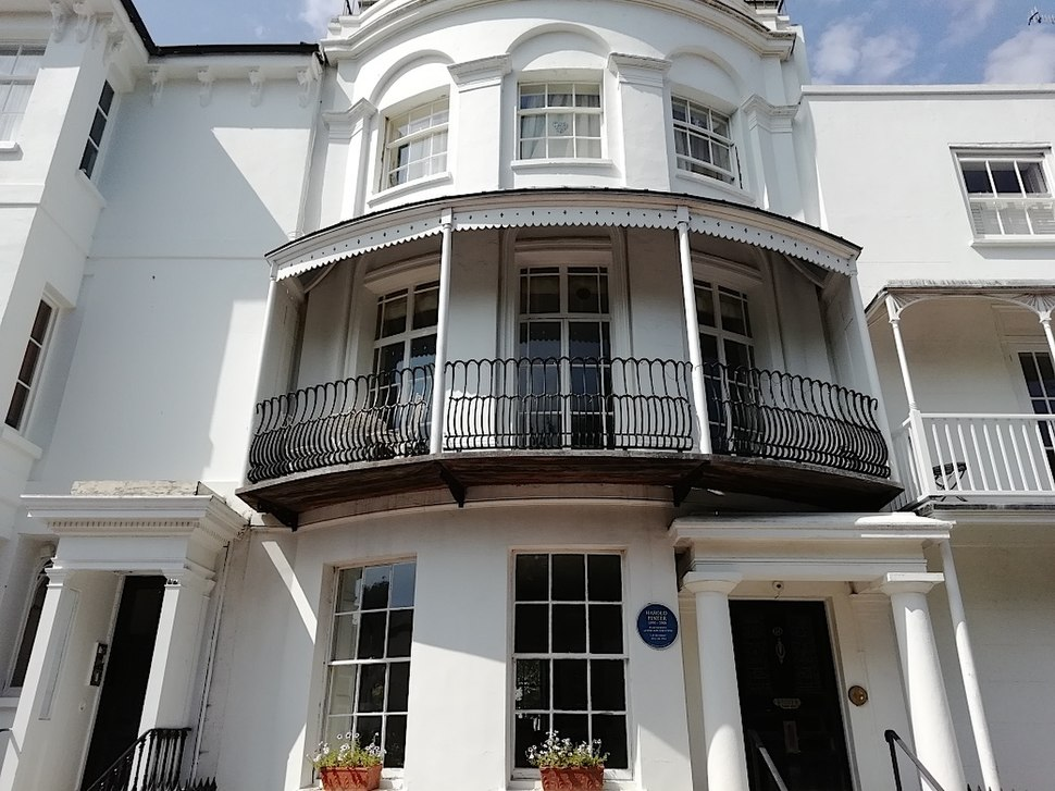 Harold Pinter's former House in Ambrose Place, Worthing