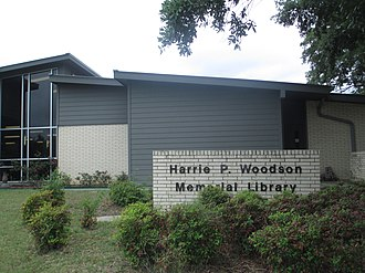 Caldwell, Texas - Harrie P. Woodson Library in Caldwell (renovated 2010)