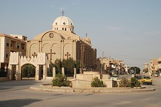 Al-Hasakah - Al-Hasakah and the Syrian Orthodox church of the city