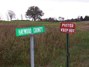 Haywood County, Tennessee - Scenic view in Haywood County (2004)