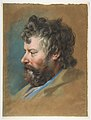 Head of a Bearded Man in Profile to Left MET DP813428.jpg