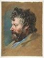 Head of a Bearded Man in Profile to Left MET DP813428.jpg