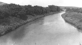 Heart River (North Dakota) - The Heart River, near Mandan, North Dakota, 1949.