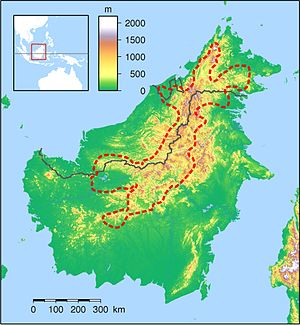 Heart of Borneo - Map of the proposed Heart of Borneo area