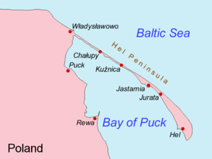 Bay of Puck - Image: Hel Peninsula and Bay of Puck