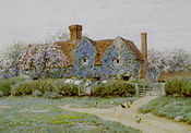 Helen Allingham Buckinghamshire house at Penstreet c1900.jpg