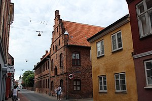 Helsingør City Museum - The gable of the Trolle Wing and Brahe's west wing as seen from Sankt Anna Gade