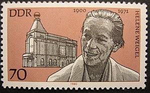 Helene Weigel - Stamp