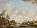 Hendrik Willem Schweickhardt - Landschap met vissers en turfstekende boeren in het laagveen.jpg